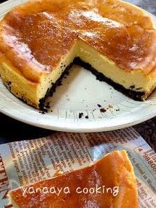 オレオでほろ苦ずっしりクリームチーズケーキ
