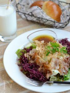 カリカリ豚とふのりの和風サラダ