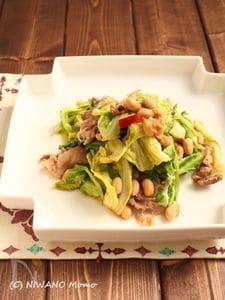 豚肉と春キャベツのスタミナ大豆炒め