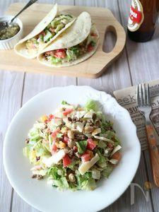 クミン香るひき肉とトマトのチョップドサラダ