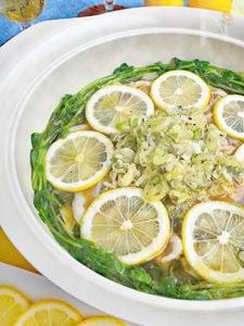 豚バラのネギ塩レモン鍋