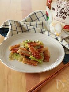 【適糖生活】ちゃちゃっと副菜☆ちくわとレタスの甘辛炒め