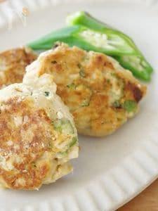 押し麦オクラのお豆腐ハンバーグ<大麦レシピ>