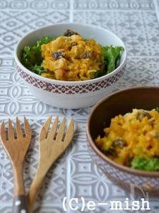 【乳酸発酵キャベツ】かぼちゃとレーズンのキャベツサラダ