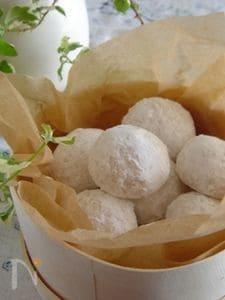 ココナッツオイル使用!ココナッツのブール・ド・ネージュ。