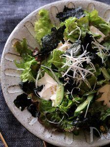 お豆腐のチョレギサラダ。
