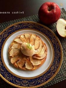ぜっっぴん!!りんごとカスタードのスィーツピザ♡