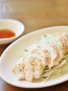 フライパンで焼酎蒸し鶏&甘酸っぱタレ