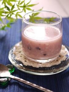 米麹で紫黒米入り甘酒