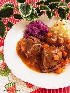 ひと鍋ドイツ料理 * 牛肉ロールの煮込み リンダールラーデン