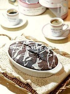 グラタン皿で作れちゃう!しっとりチョコファッジケーキ