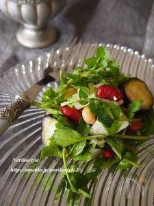 クレソンと豆のぬか漬けサラダ