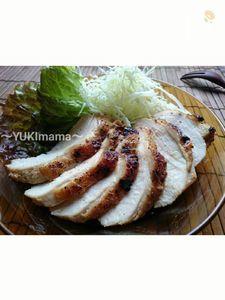 魚焼きグリルで簡単~鶏胸肉のローストチキン(焼き肉のたれで~
