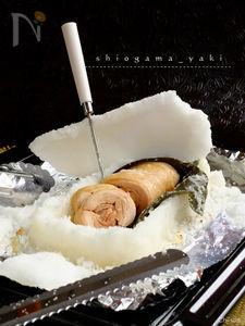 楽しぃ~美味しぃ~♡鶏もも肉の塩釜焼!【卵白不要】