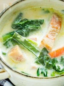 栄養たっぷり!小松菜とにんじんのミルクスープ