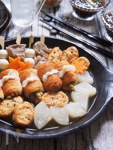 一正『竹輪』と『白身魚揚げ』で牛すじスープのおつまみおでん♪
