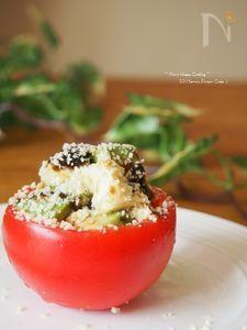 アボカドと豆腐とパルミジャーノのベジカップサラダ。