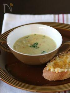 豆乳カレーポテスープ