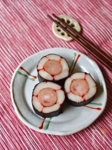 サラダスティックの花🌼海苔巻き