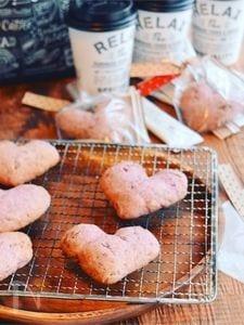ベリーベリーチョコチップハートクッキー