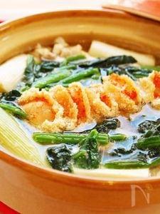 ねぎと豆腐の明太子鍋☆