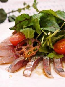 血液サラサラ!青魚とえごま油のカルパッチョ