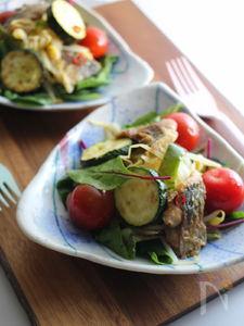 アジと夏野菜のバランス南蛮漬けサラダ。