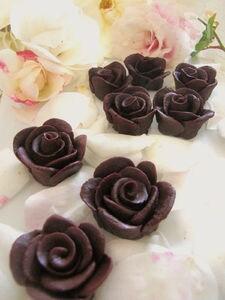 レンジdeバレンタイン薔薇のチョコレート
