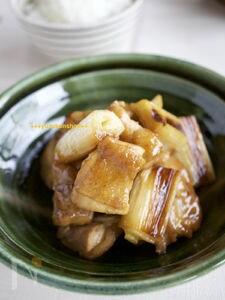 鶏肉とネギの梅酒煮