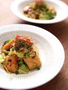 メカジキと春キャベツの豆豉炒め❀
