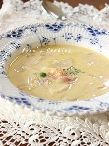 海老と安納芋のクリームスープ