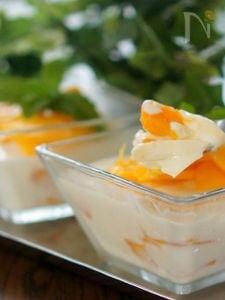 マンゴー入り豆腐ブランマンジェ