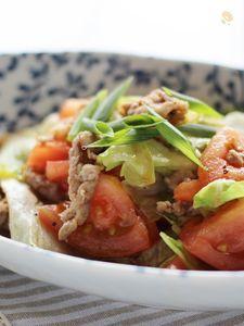 豚肉とレタスの簡単炒め、焼肉タレ味