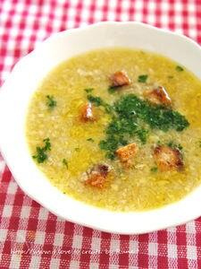 ベーコン香るガーリックスープ