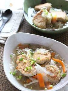 惚れんこん入り・鶏団子スープ