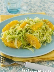 きゃべつとオレンジのスパイスサラダ