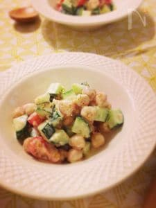 ひよこ豆のごま味噌サラダ