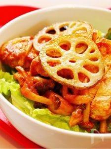 豚肉のトマト味噌丼