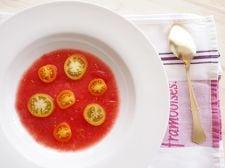 プチトマトのサラダ、スープ仕立て