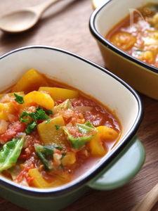 夏野菜のクミンスープ