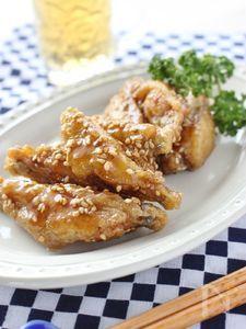 簡単鶏のスペアリブ、甘辛カレー風味