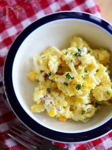 さつま芋とコーンのマヨチーズサラダ 【作りおき】