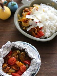 夏野菜のホイル焼きカレー。