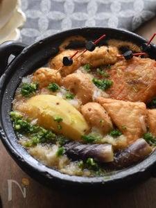 お酒もご飯もすすむ!時短満足 サツマイモとなすの韓国風おでん