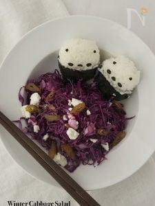 柚子とデーツの紫キャベツサラダ