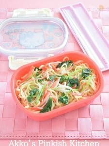 カニかまと三つ葉の焼きそば 一正蒲鉾 サラダスティックレシピ