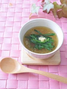 ニラと大根おろしのスープ 風邪予防に最適です♪