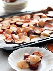 りんごとお芋のマシュマロぎゅうぎゅう焼き