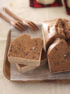 米粉の蒸しパウンドケーキ♪シナモン&小豆あん
