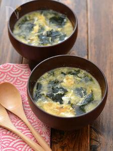 たまごわかめスープ